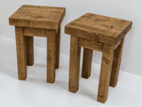 Tortuga Rustic 12x12  inch wooden side table
